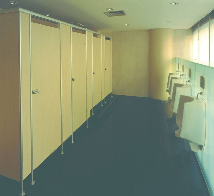 Public Toilet partition/toilet cubicles with Stainless Steel Hardware