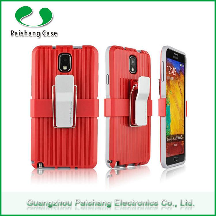 Various mobile phone 2 in 1 dual layer case with clip 10 colors Anti-throw cases cover for Samsung g
