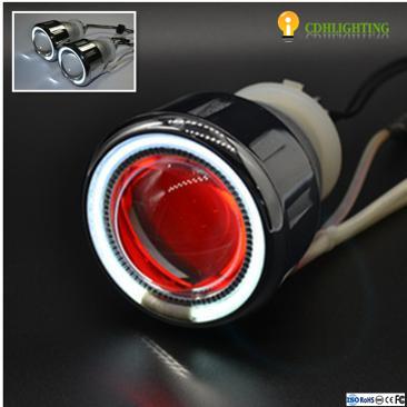 Hot sell 2.5 inch 35W Dual Angel Eye bi xenon HID Projector for cars