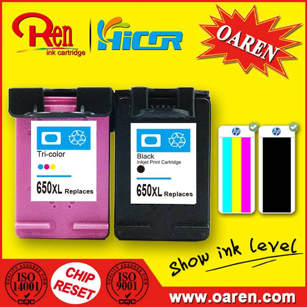 for HP 650 XL Black Ink Cartridge Show Ink Level