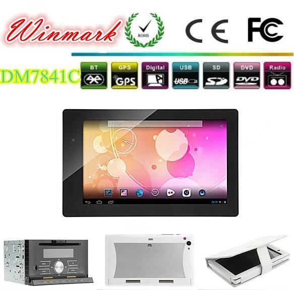 android 4.2 car tablet for car DVD player with main unit of Win CE 6.0 OS DM7841C