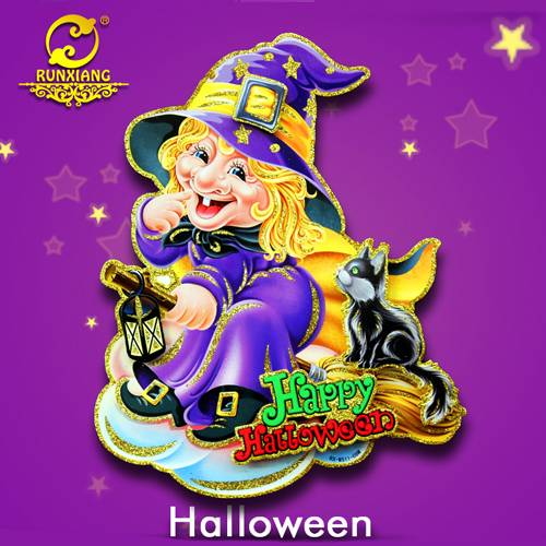 Part Supply for Halloween Decorations Animated Witch Wall Sticker