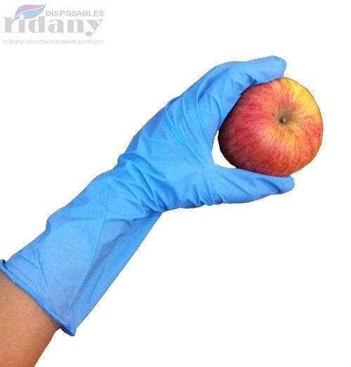"Long cuff nitrile gloves 12"""