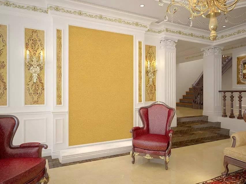 Glorious Gold Foil Wallpaper for Building Interior Decoration