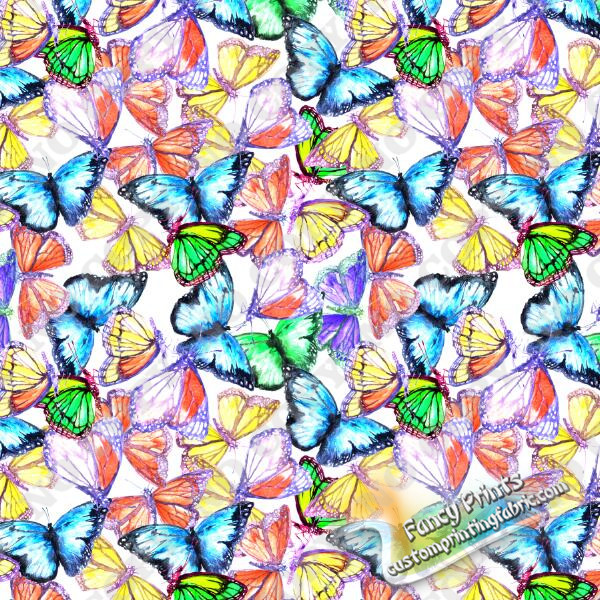 Colorful butterfly print for 100%polyester chiffon