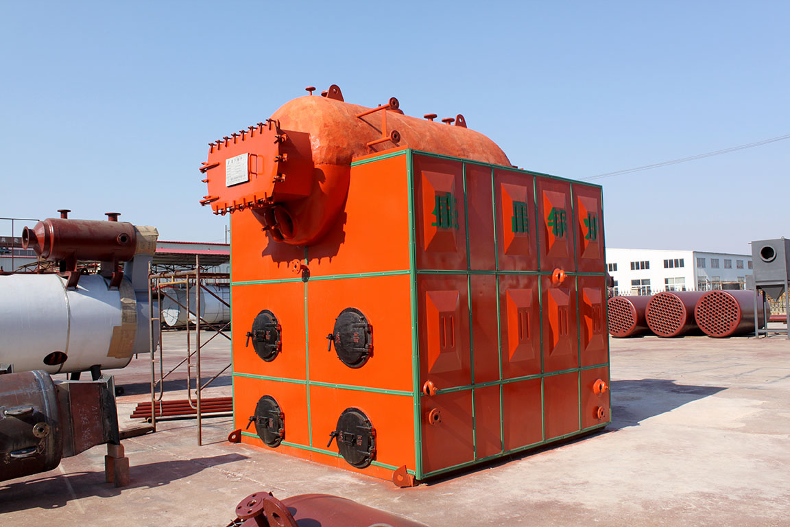 New type of atmospheric pressure water-cooled grate and threaded pipe boiler