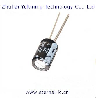 Electronic Components of Electrolytic Capacitor 220uF/35V