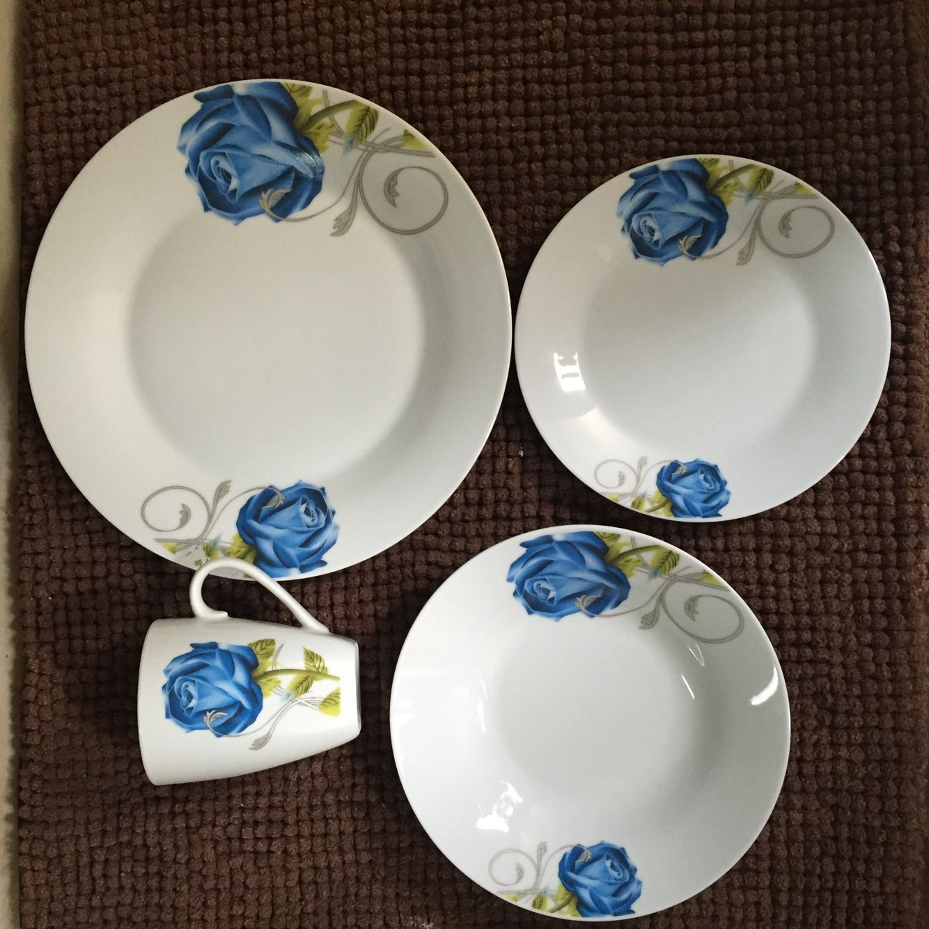 16pcs white dinnerware set
