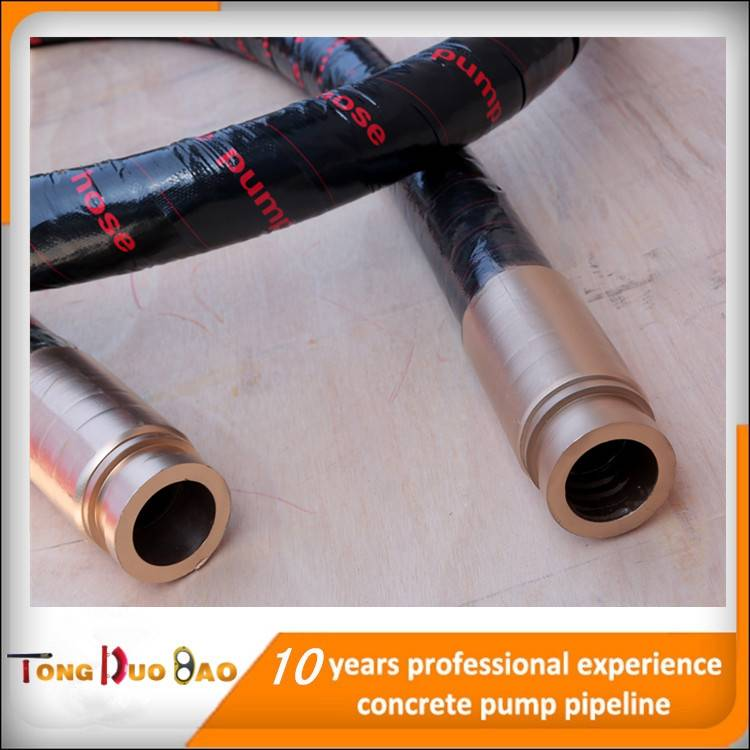 concrete pump rubber hose 5 inch with 4 layer steel wires spiral