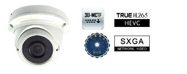 GA-NC3530T 1.3MP Fix Dome Full Frame H.265 Starlight IP Camera