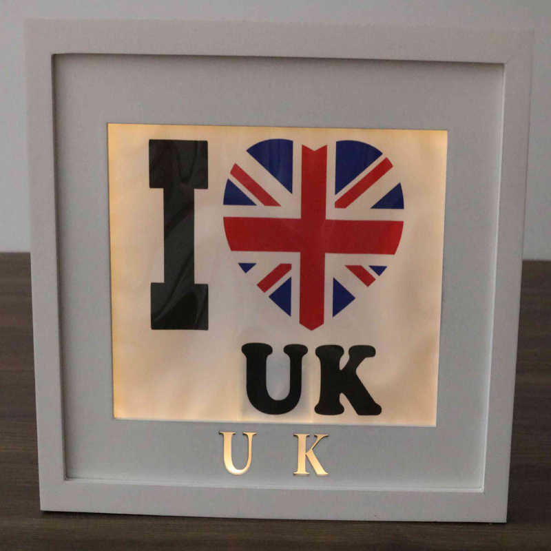 decorative wooden wall UK plaque led