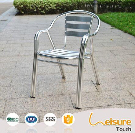 Double Tube Aluminum Chair for Restaurant