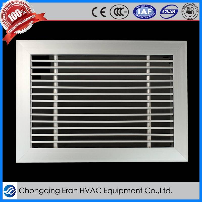 Aluminum alloy linear slot diffuser with removable shutter