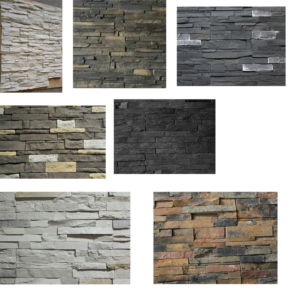 Artificial manufactured stone for exterior and interior house decoration
