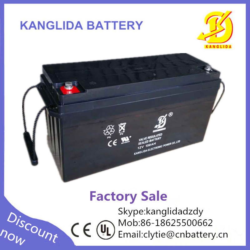 Kanglida 12v 150ah agm vrla lead acid battery for solar
