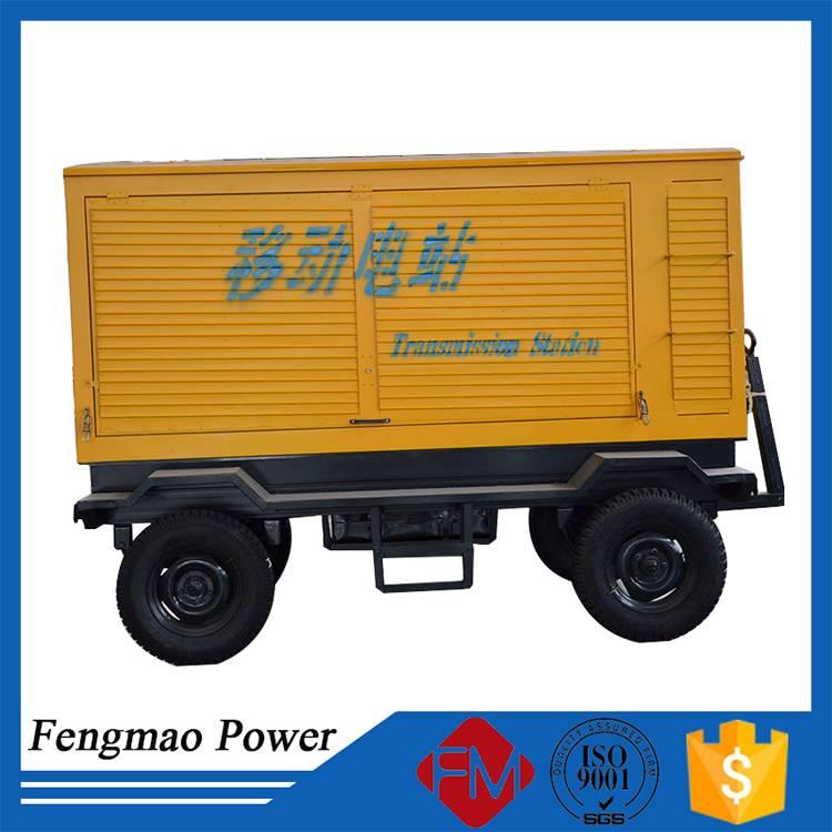 Mobile diesel generator trailer