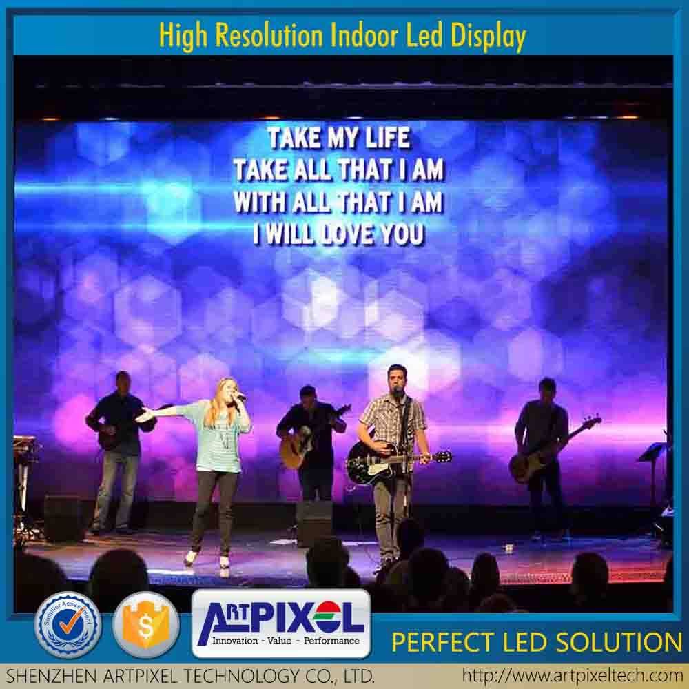 wholesale hd high brightness advertising video display indoor P6 led screen