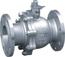 2PC Stainless Steel Flanged Floating Ball Valve SUS304, 316.16mpa Dn100mm