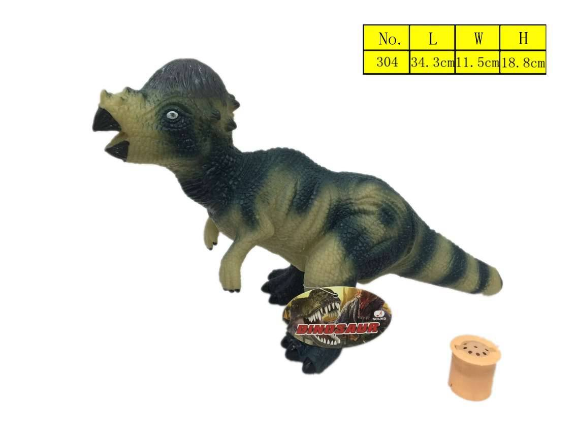 2016 Latest product Hot sell vinyl plastic Dinosaur toys with sound environment protection material