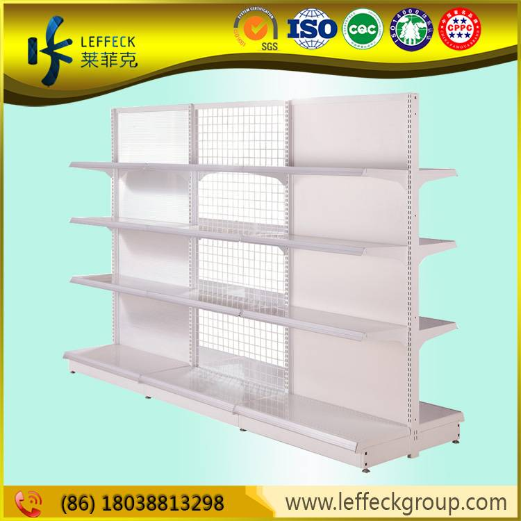 Supermarket metal wire gondola racks display rack