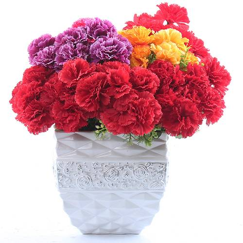 Wholesale China artificial flowers 9 heads carnations