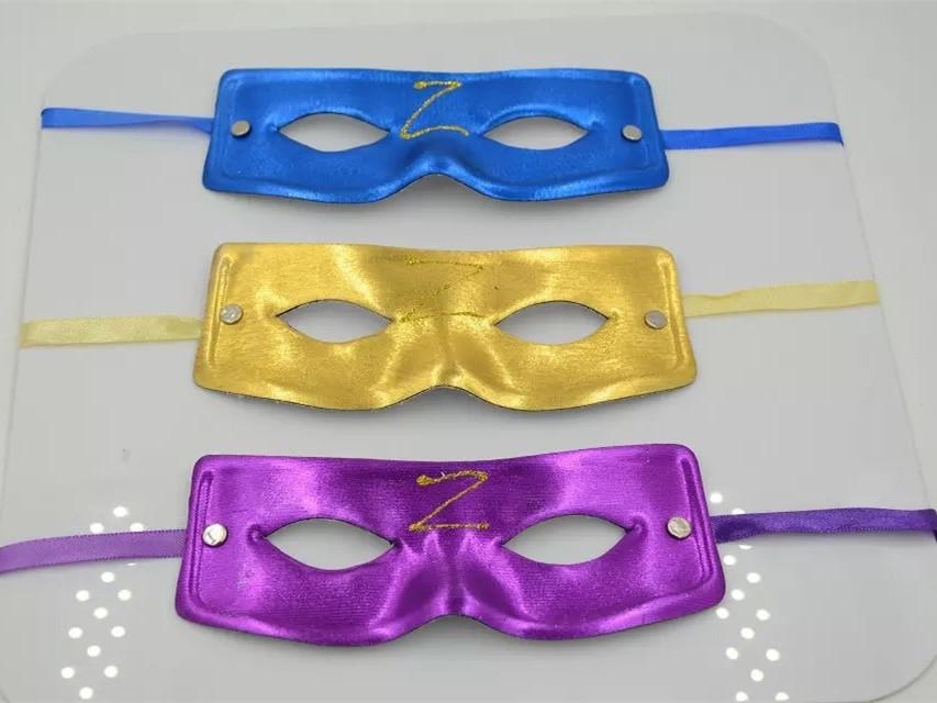Multi Color Zorro Man Eye Mask Masquerade Mardi Gras Venetian Party Mask