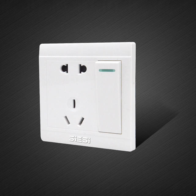 5pin wall socket with 1 Way Switch