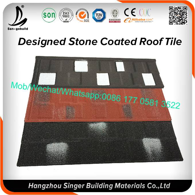 Stone chips coated steel tile, kenya business stone coated roofing tiles
