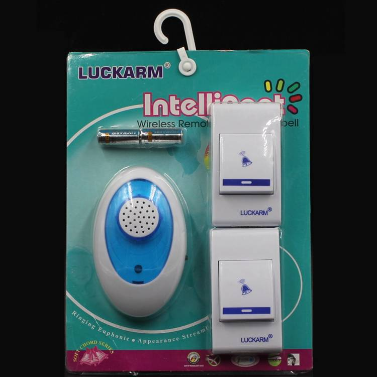 luckarm wireless musical doorbell with 2 senders