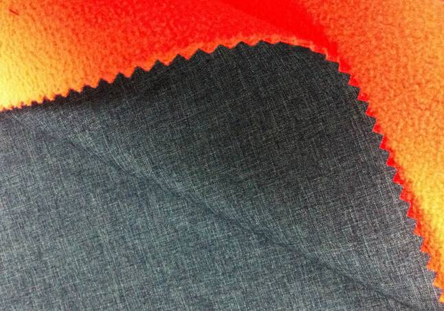 75D plain cationic elastic fabric+TPU+75d/144f fleece