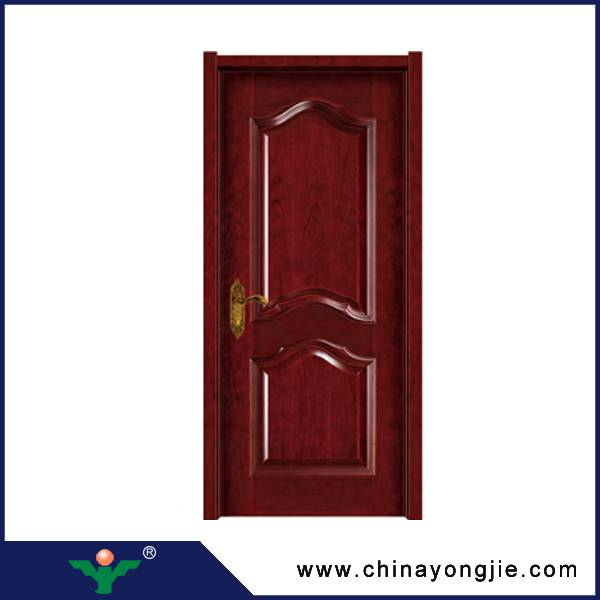 Zhejiang hot sale interior mdf door frame wooden double door designs