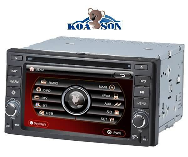 Two -Din KIA Sportages Cerato Car DVD Player with 6.2-Inch Touch Screen /DTV(optional)/TMC(optional)