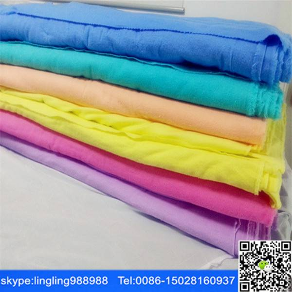 dyed/white cotton/cvc flannel fabric cheap flannel