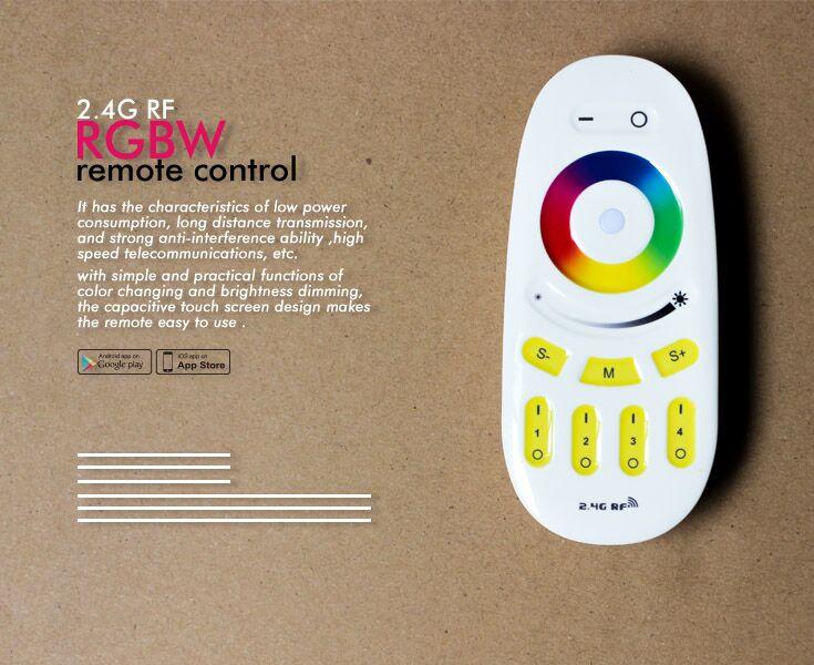 Shenzhen factory 2.4G RF led remote control for Gledopto rgb led bulb led garden lamp floodlight lig