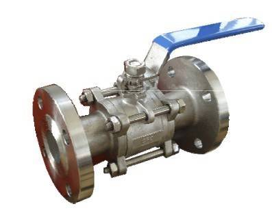 ANSI CLASS150/ DIN PN16/25/40 CARBON STEEL OR STAINLESS STEEL 3-PC BALL VALVE BOLTED CAP DESIGN