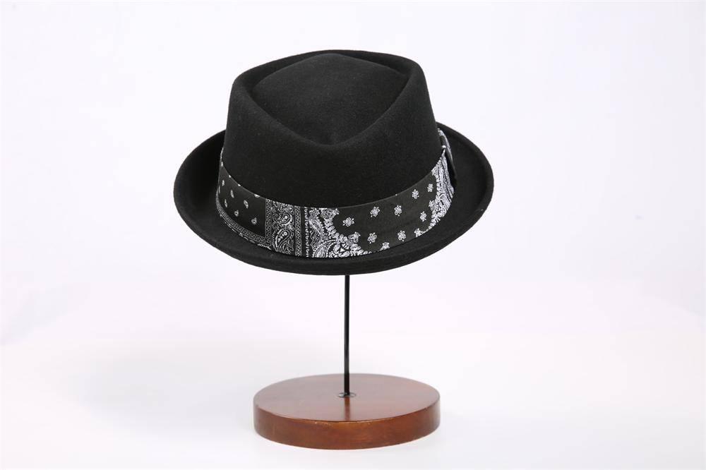 Wool Felt Fedora Hat For Man (FM002049)
