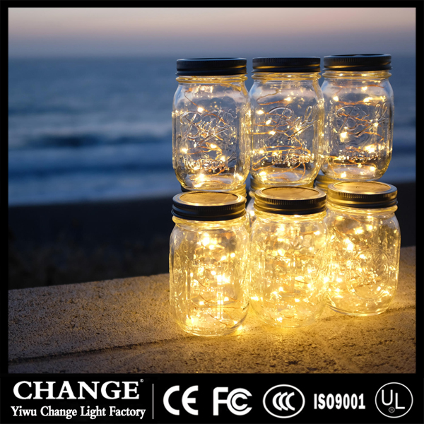 LED glass bottle Copper wire Fairy String Light Holiday Lamp Wedding Christmas Festival home Decor