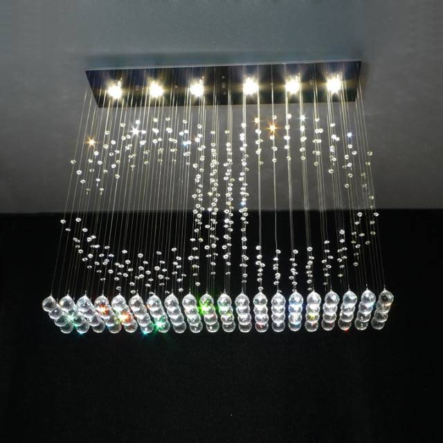 square good quality and competitive price of modern crystal ceiling light 8027-6