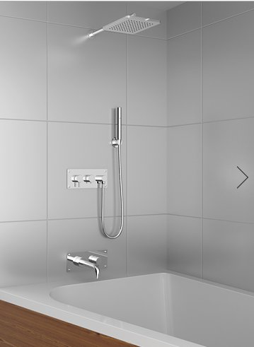 Hidden-T : concealed type of shower system
