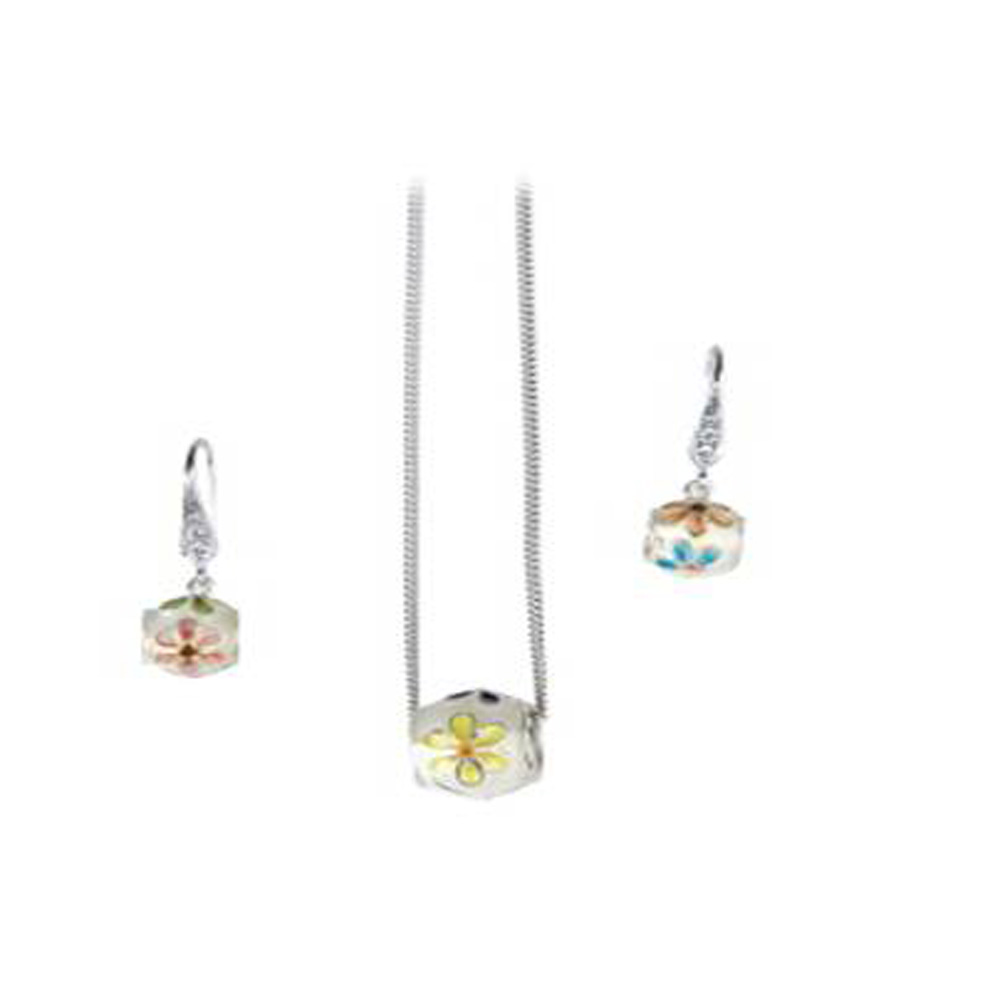 Ring pendant necklace & earring set