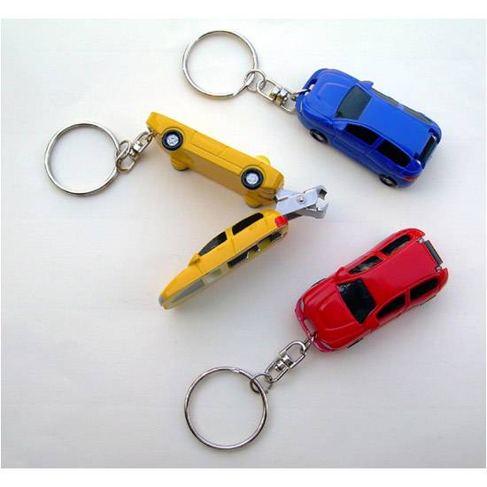 Foldable nail clipper with ABS car shape case