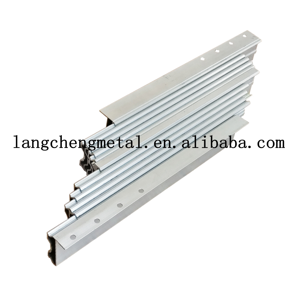 aluminum multi section console table slide extending mechanism for dining table