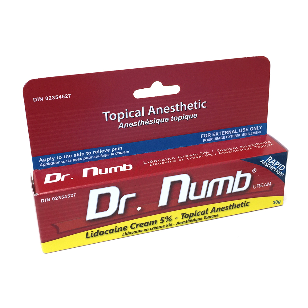 NUMBING CREAMS (DR. NUMB, HUSH ANESTHETIC, ZENSA, GREENCAINE, TOPICAINE, ULTRANUMB)