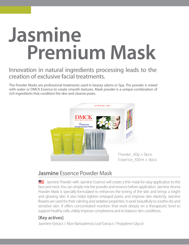 DMCK Premium Jasmine Essence Aroma Powder Mask - for dull & faded skin