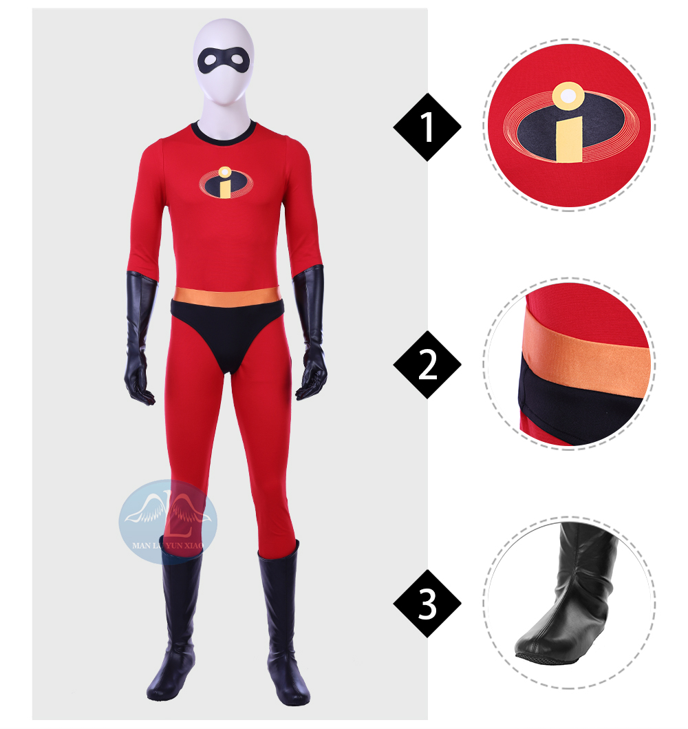 The Incredibles 2 Bob Cosplay Costume Mr Incredible Disney Costume