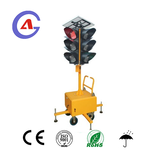 Solar Power Movable LED Traffic Signal Lights