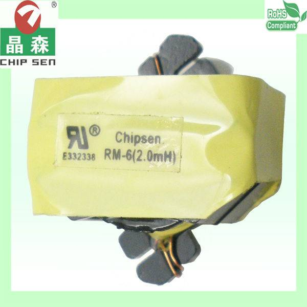 UL compliant RM Type 3w-200w High Voltage High Frequency Transformer used in LED