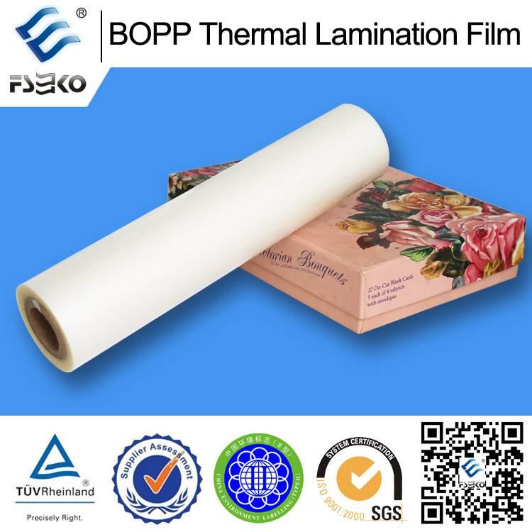 23mic BOPP Thermal Laminating Film for Paper Carrier Bag (matte)
