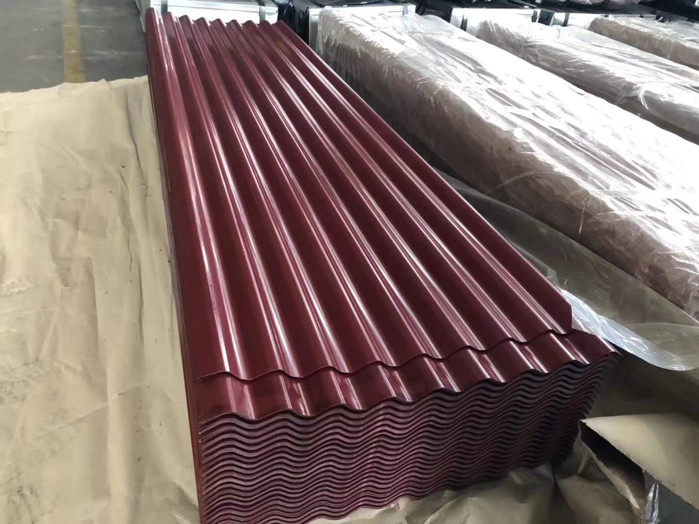 Prepainted Roofing Sheet Corrugated PPGI Galvanized Steel Roofing Sheet