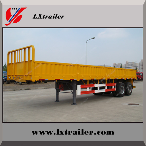China factory sale 3 Axle Side Wall Semi Trailer Truck cargo trailer